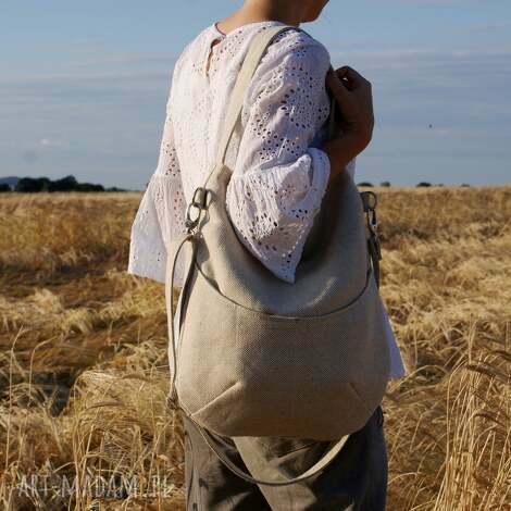workówka plecionka, torba, torebka, vegan, len, eko, bio na ramię torebki