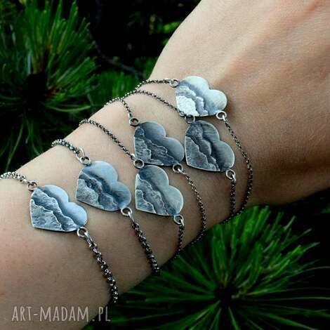 bransoletka z miłości do gór, góry, srebro, tatromaniak, serce, miłośnik gór
