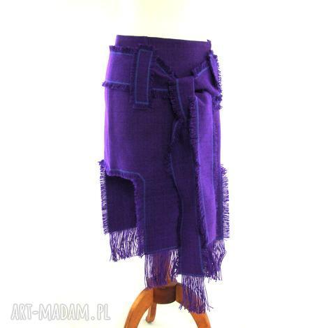 barska spódnica indiańska fioletowa, spódnica, indiańska, frędzle, strzępienia