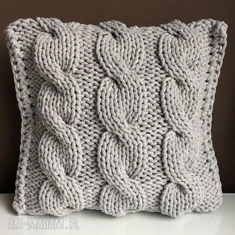 poduszki poduszka ze sznurka bawełnianego jasny szary 40x40 cm