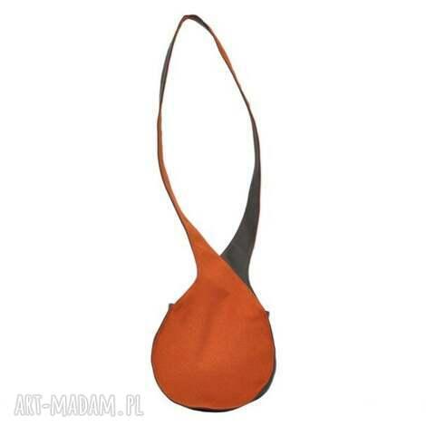08-0009 pomarańczowa torebka listonoszka fajne torebki młodzieżowe bluebird