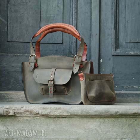 18241bd791bde9 mała podręczna stylowa torebka kuferek w pięknych kolorach khaki i ...
