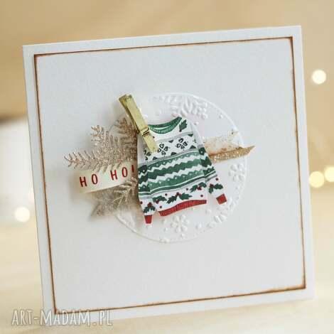 kartka świąteczna, sweterek, kartki świąteczne, kartka