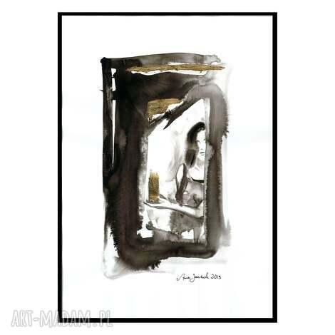 grafika z serii uwikłane w emocje, grafika, abstrakcja, kobieta, obraz