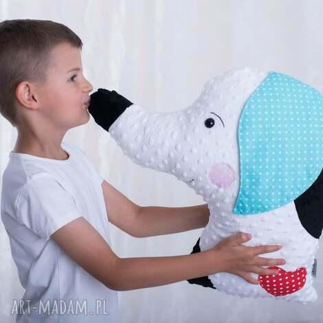 ateliermalegodesignu poduszka dziecięca pies, pies na prezent, hand made