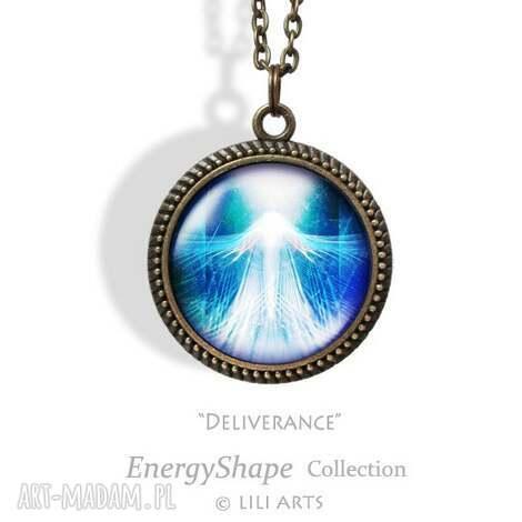 medalion, talizman - uwolnienie - deliverance - antyczny brąz - naszyjnik, ezoteryczny
