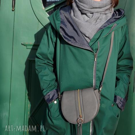 zielony szmaragdowy płaszcz oversize ogromny kaptur na jesień rozmiar xs, kurtka