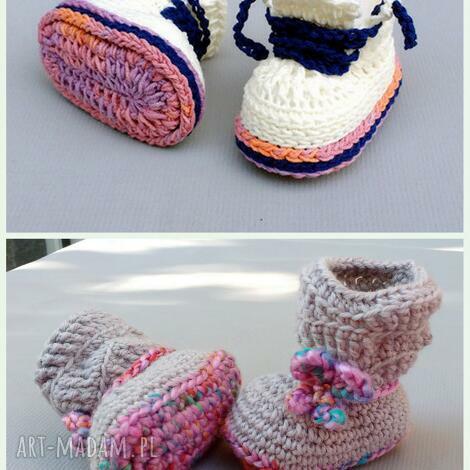 zamówienie p agnieszki, buciki, wełniane, bawełniane, ciepłe, dziecko, niemowlę dla