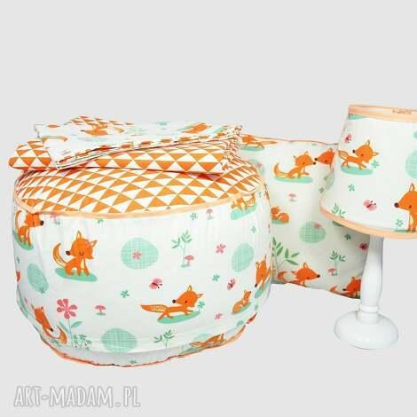zestaw friendly fox - zestaw, puf, poduszka, lampka, popielewska, style
