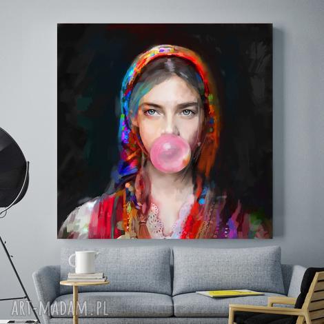 obraz na płótnie lady folk 3, obrazy dekoracje, plakaty, nowoczesny, salonu