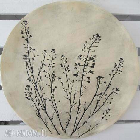 roślinna patera, ceramiczny, talerz, ceramiczna, ekologiczna, dekoracyjna