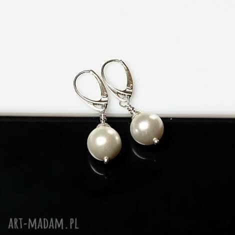 perły seashell - kolczyki - perły, seashell, srebro, kolczyki