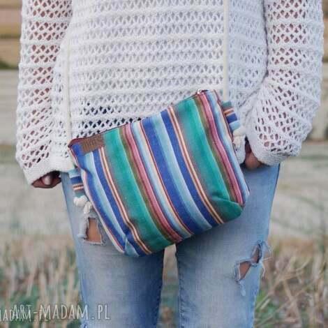 na ramię mini vegan płótno paski, torba, torebka, vegan, płótno, hippie, lato