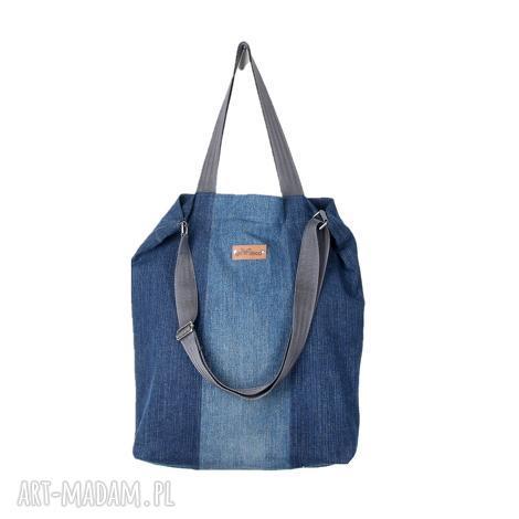dżinsowa torba shopperka na ramię pojemna, dżinsowa, dżins, pojemna