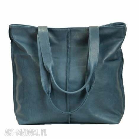 world of barracuda turkusowa torba ze skóry licowej, torba, torebka, wygodna, prezent