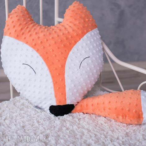 poduszka dziecięca lisek, lis-poduszka, lis-maskotka, lis-hand-made, coś-na-prezent