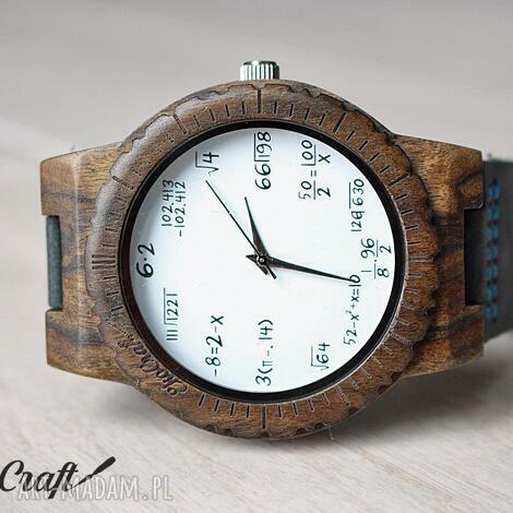 drewniany zegarek mathematics hawk, matematyka, matematyczny