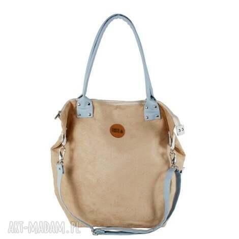 torba worek beige #lightblue2, wygodna, pojemna, na-zakupy, do-szkoły, modna