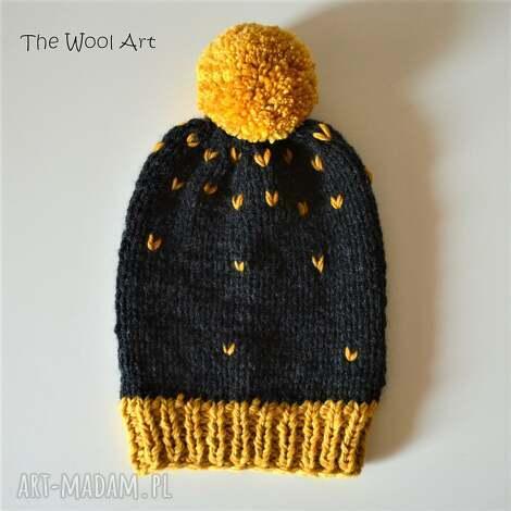czapka - czapka, na-głowę, wełniana-czapka, na-drutach