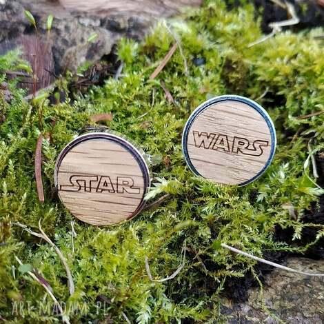 drewniane spinki do mankietów star wars, gwiezdne wojny, ślubne, drewno