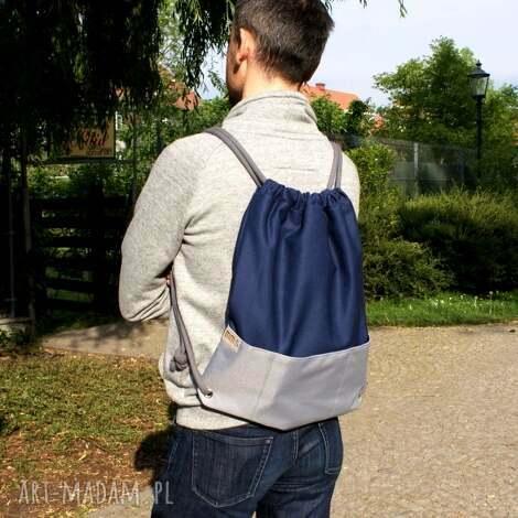 plecaki plecak vege troczek granat szary, torba, plecak, worek, vegan, torebki