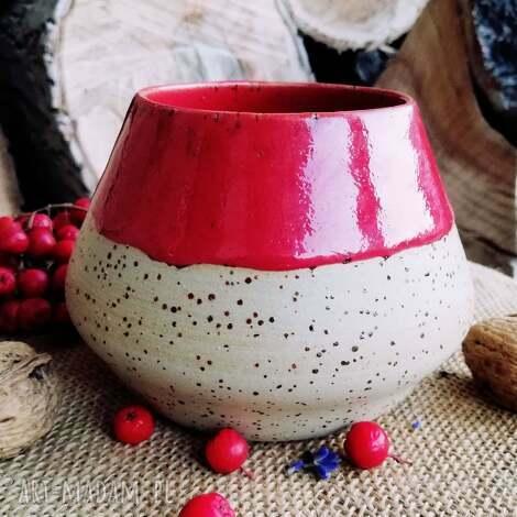 ceramika ceramiczne matero 500 ml duże czerwone kamionkowe do yerba mate