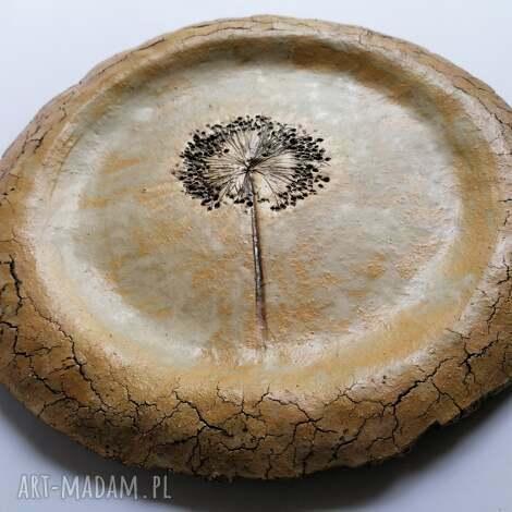 talerz kwiat czosnku, ceramika, dekoracja wnętrza, stołu