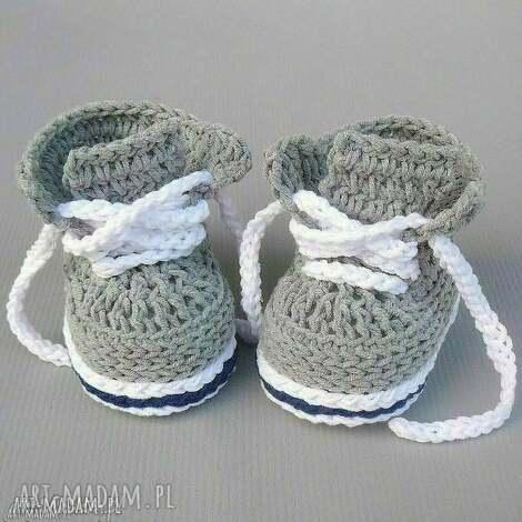 trampki stanford, buciki, trampki, dziergane, dla niemowlaka, prezent
