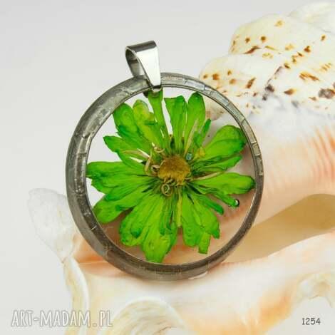 z1254 naszyjnik z suszonymi kwiatami herbarium - naszyjnik, zsuszonychkwiatów