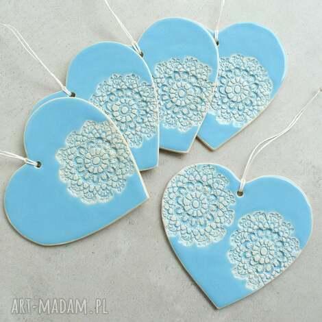 duże serca, serce, zawieszka, ozdoba, ceramika, folk, romantyczne