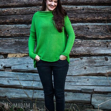 swetry sweter zielony oversize, sweter, luźny