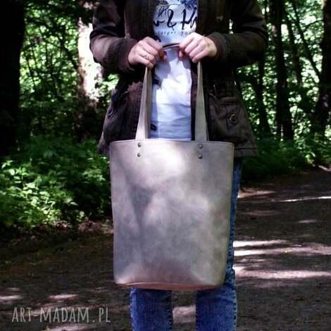 na ramię owal vege piaskowy, vegan, vege, torba, torebka, shopper