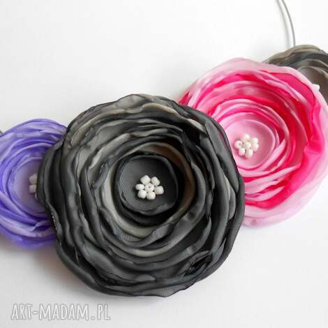 kwiatowa kolia - naszyjnik, kwiaty, kolia, kobieta, biżuteria, święta