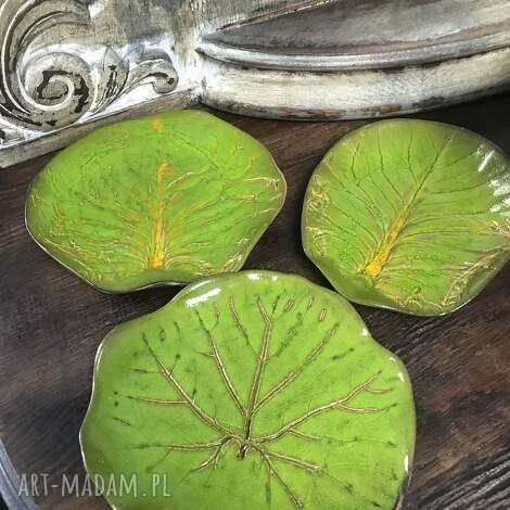 święta, talerze liście, ceramika artystyczna, rękodzieło, dla domu