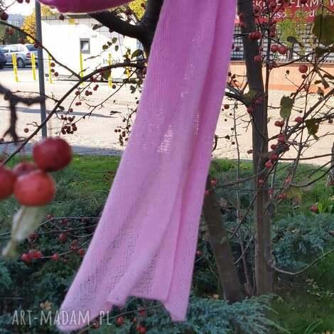 różowa mgiełka, folk boho, ciepłazima klasyka rękodzieło, prezent