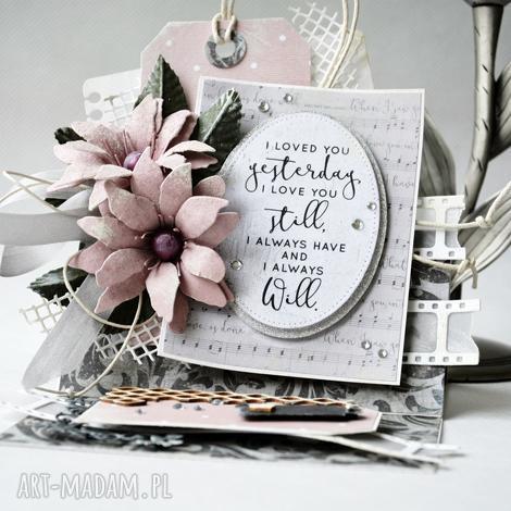 i loved you - kartka sztalugowa w pudełku - życzenia, wyznanie, zaręczyny