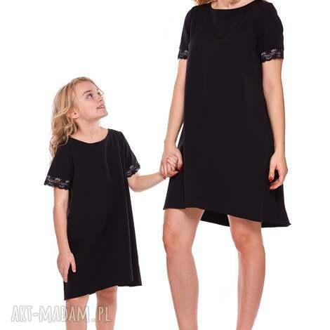 52441457b1 mama i córka trapezowa sukienka z koronką dla córki ld12 4