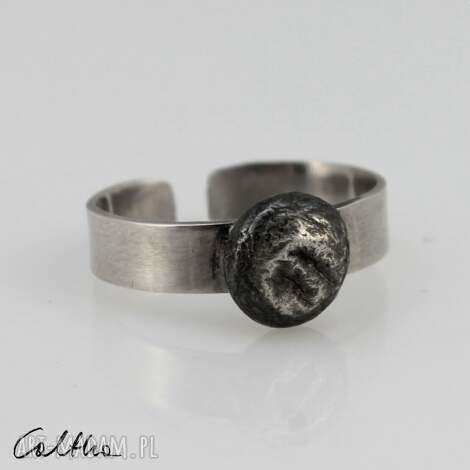 srebrny pierścionek 190710-08, pierścinek, regulowany, otwarty
