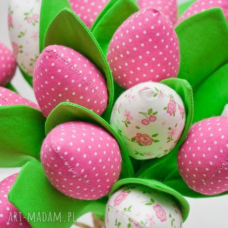 tulipany z materiału bukiet tulipanów różowe 9 sztuk - tulipany