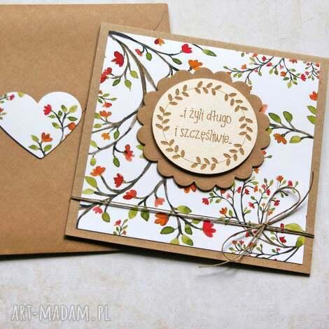 kartki i żyli długo szczęśliwie - kartka ślubna, ślub