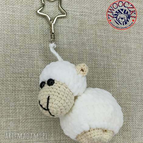 breloki owieczka szydełkowy breloczek, owca, uroczy, brelok, modny