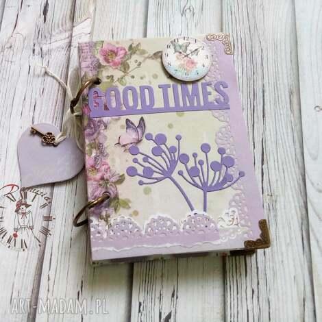scrapbooking notesy stylowy notes/good times, notes, zegar, kwiaty, pamiętnik