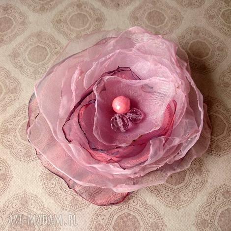 rosa ii broszka, brosza, przypinka, lekka, letnia, ozdoba