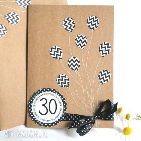 urodzinowa kartka xl 30-te urodziny b w, 30, trzydziestolatek