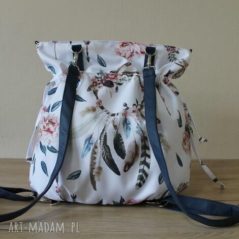 plecak torba sakiewka - łapacz snów boho, worek, plecak, snów, boho