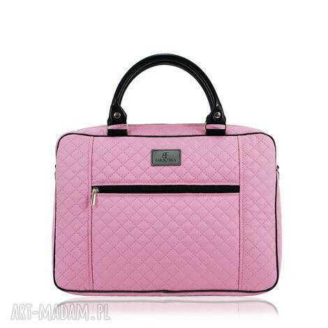 farbotka torba na laptopa 1221, praktyczna, pojemna, pikowana, duża, ramię