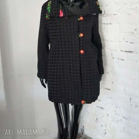 folk design- płaszcz unikat - płaszcz, folk, design, unikat