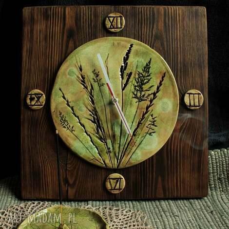 wyjątkowy prezent, zegar trawy, zegar, ścienny, na ścianę, trawy
