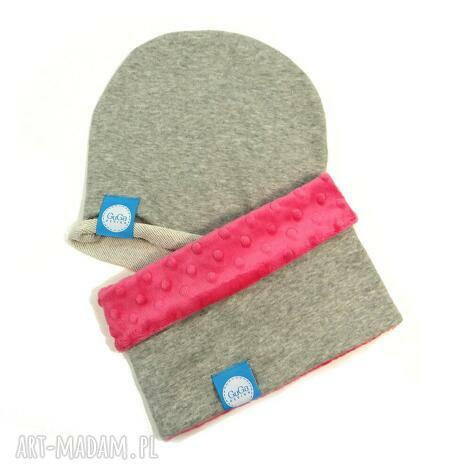 zestaw komin z czapką minky, komin, czapka, komplet dla dziecka