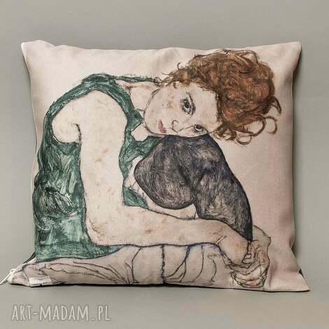 poszewka na mała poduszkę jasiek - schiele, jasiek, poduszka, portret